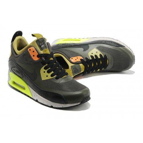 Pánske Nike Air Max 90 Mid NO SEW Bežecká obuv Army zelene/Earthy žltý