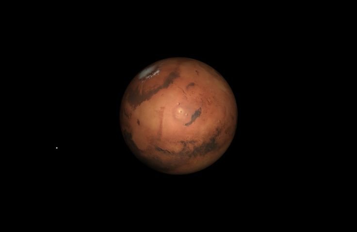 Monday, April 14, 9 a.m. Because of its eccentric orbit, Mars will be at its closest to Earth today, almost a week after opposition on April 8. This is an unfavourable opposition, Mars being only 15.1 arc seconds in diameter. Later today, the almost Full Moon will pass just north of Mars.