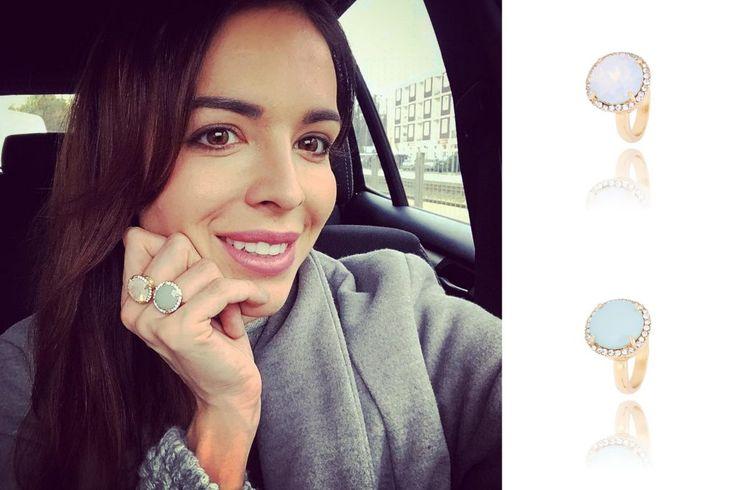 Ania Wendzikowska ponownie w By Dziubeka,  tym razem gwiazda wybrała pierścionki z kolekcji Grace :) #celebrietes #bydziubeka #jewellery #jewelry #fashion #style #look #ootd #celebrity #stars
