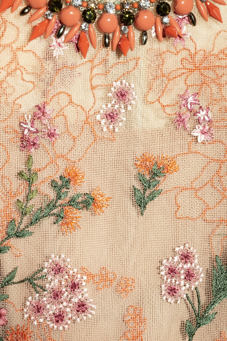 Biyan|Ankskarina embroidered tulle dress|NET-A-PORTER.COM