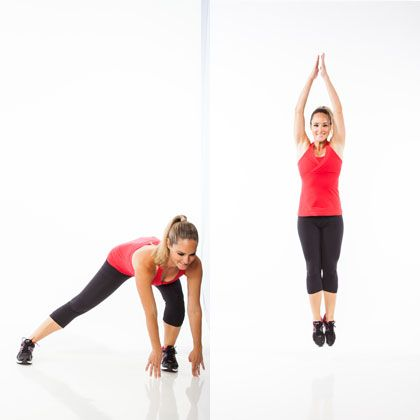 5-Minute Cardio Fat-Blaster Workout: Side-to-Side Power Lunge