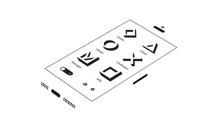 CloudCollar  - 英雄设计 - 作品的彼得·Buczkowski的 - 平面设计和插图