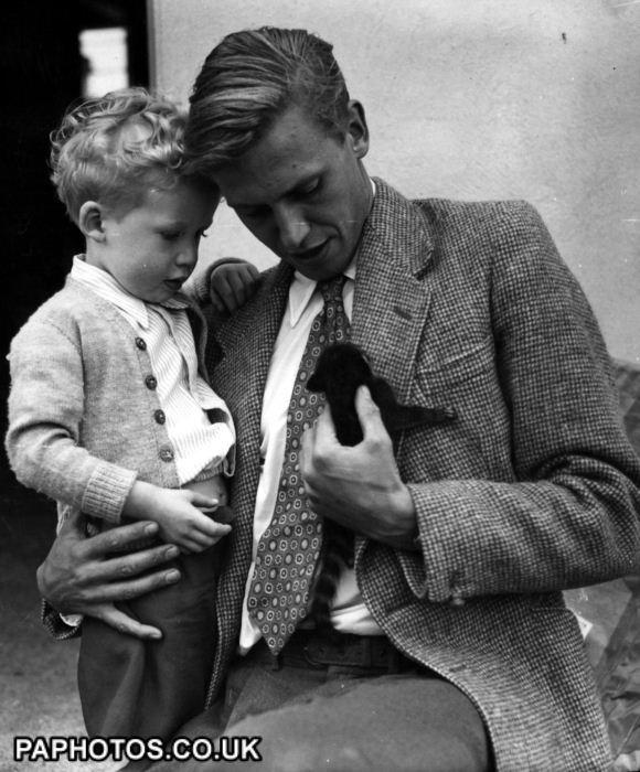 David Attenborough and son