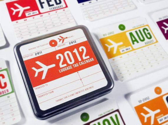 2012 Calendar designed by Girl In Gear Studio