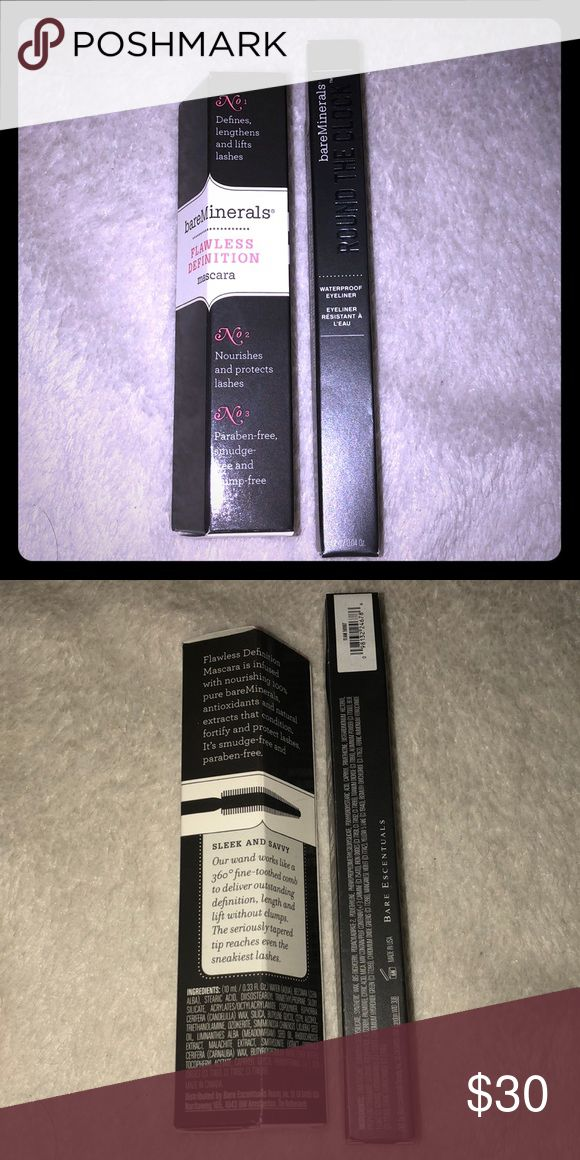 🆕2 Piece Bare Minerals Eye Set Lot 2 One Flawless Definition Mascara In Black And One Round The Clock Eyeliner In 11 AM (dark green) New and Unused. All Offers Will Be Considered. No Trades. A Random Beauty Sample Will Be Included with Every Package! The Bigger the Bundle the Better the Sample! Loyal Buyers Will Receive a Free Gift on the Third Transaction! bareMinerals Makeup Mascara