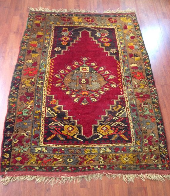 Antique Turkish Carpet Rug From Central Anatolia By Centreofrugs, $1799.00