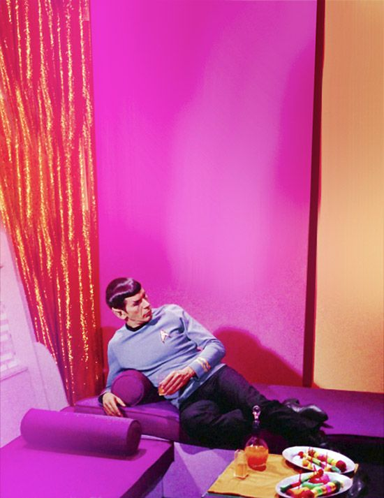 Spock.: Leonard Nimoy Spock Stars, Colors Adjustable, Retro Waves, 2014 Colors, Pink Stuff, Spock Lounges, Spock Things, Nimoy Spock Stars Trek, Star Trek