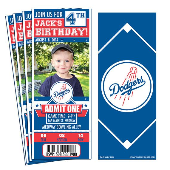 Hey, I found this really awesome Etsy listing at https://www.etsy.com/listing/205665956/12-los-angeles-dodgers-birthday-party