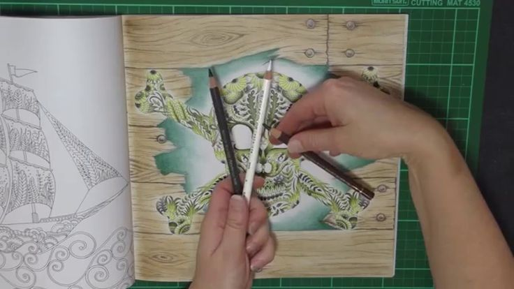 The Tutorial Of How I Achieved My Timber Background In Johanna Basfords Lost Ocean Colouring Book