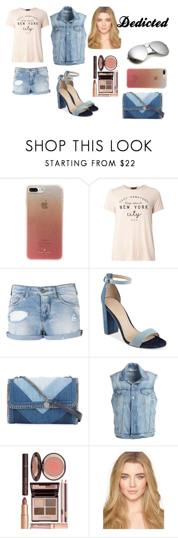 """""""Outfit #24"""" by sci-fi-gal ❤ liked on Polyvore featuring Kate Spade, Dorothy Perkins, Armani Jeans, GUESS, STELLA McCARTNEY, Frame and Charlotte Tilbury"""
