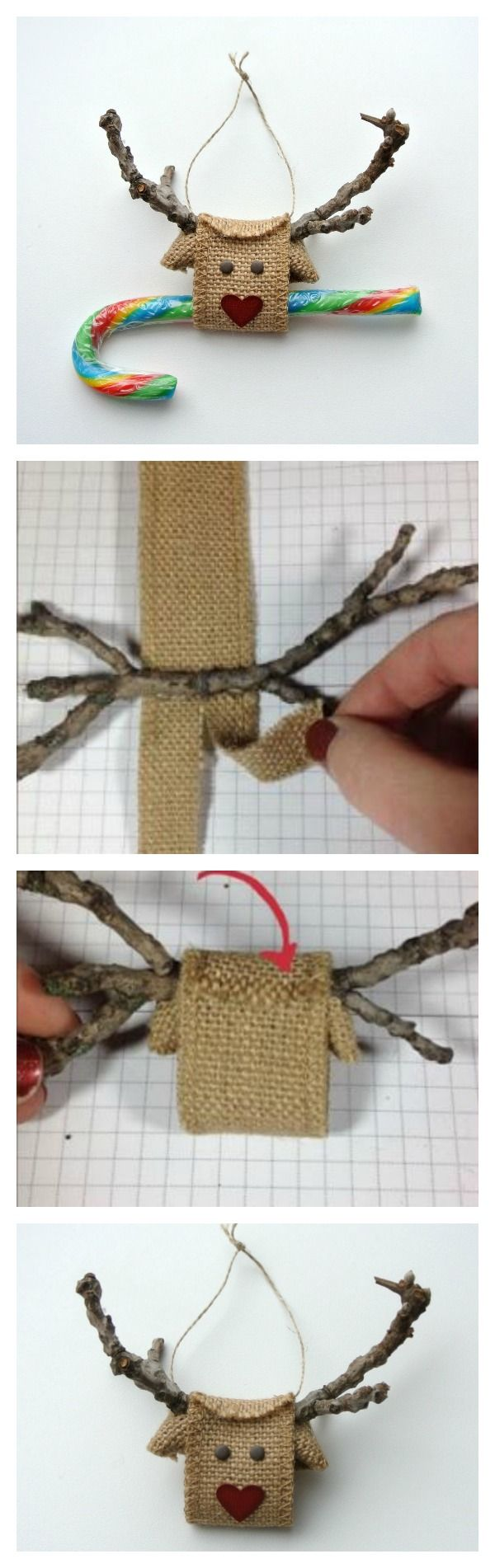 Creative DIY Reindeer made from Burlap Ribbon