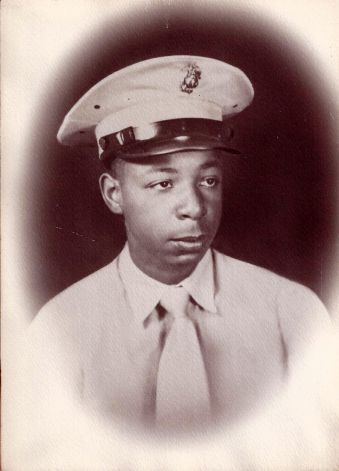 Private Lavell Lynch of Bridgeport as a member of the Original Montford Point Marines, the first African Americans allowed to join the Marines.