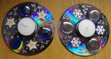 Svícny z CD