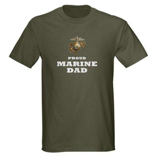 bea24bd88 CafePress - MARINES Eagle Globe Anchor - Proud DAD Dark T-Shir - 100 ...