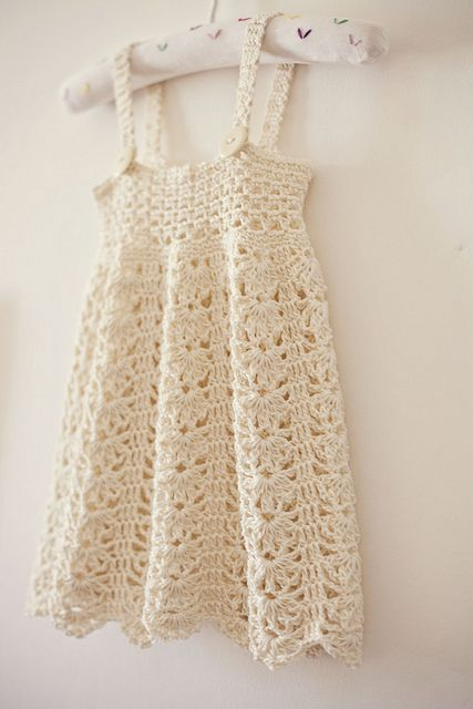 Delicate crochet dress pattern..size 9 mos-5 yrs.