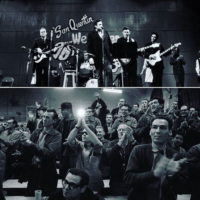 Reposting @free_con: 1.1.1959 : Johnny Cashplays one of his first jailhouse shows when he performs at San Quentin prison in San Rafael, California. Among those in the captive audience isMerle Haggard, who is serving time for burglary. . . #newyearsday #mondaymotivation #musicmonday #music #musica #musician#musicphotography #goodmusic #musicians #musiclife #musiclover #trivia #throwback #tb#musicislife #musicismylife #musicgram #instamusic #instagood #lovemusic #johnnycash #merlehaggard