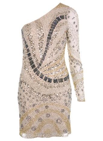 Miss Selfridge One Shoulder Embellished Dress £89