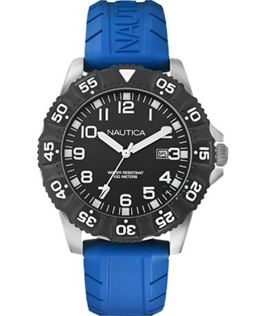 NAUTICA NSR 103 Blue Rubber Strap Η τιμή μας: 110€ http://www.oroloi.gr/product_info.php?products_id=38336