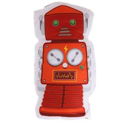 Polštář ve tvaru robota, design Ted Smith #robot #cushion #giftsforhim #polstar