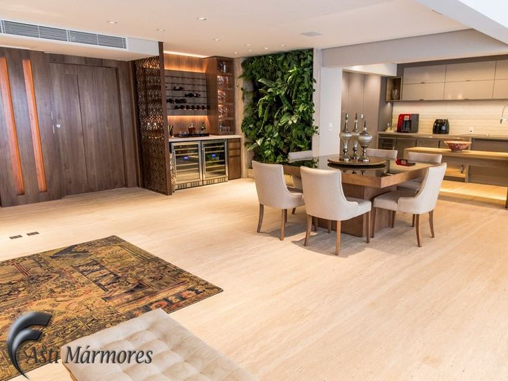 Piso Do Living/Sala De Estar Em Travertino Romano Bruto #travertino  #marmore #arquitetura #dedshopping #decoracao #design #marble #living  #saladeestar ... Part 26