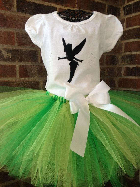 Tinkerbell Inspired Tutu Set Tinkerbell by LalaBirdBoutique