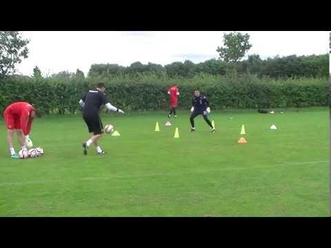 Goalkeeper trainig: U17 speed, agility, side volleys - YouTube