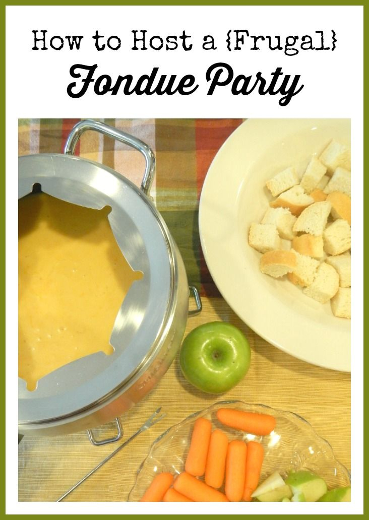 How to Host a {Frugal} Fondue Party #recipe #fondue