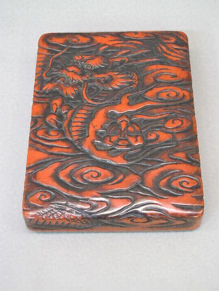 雲竜文彫刻塗硯箱 文化遺産オンライン