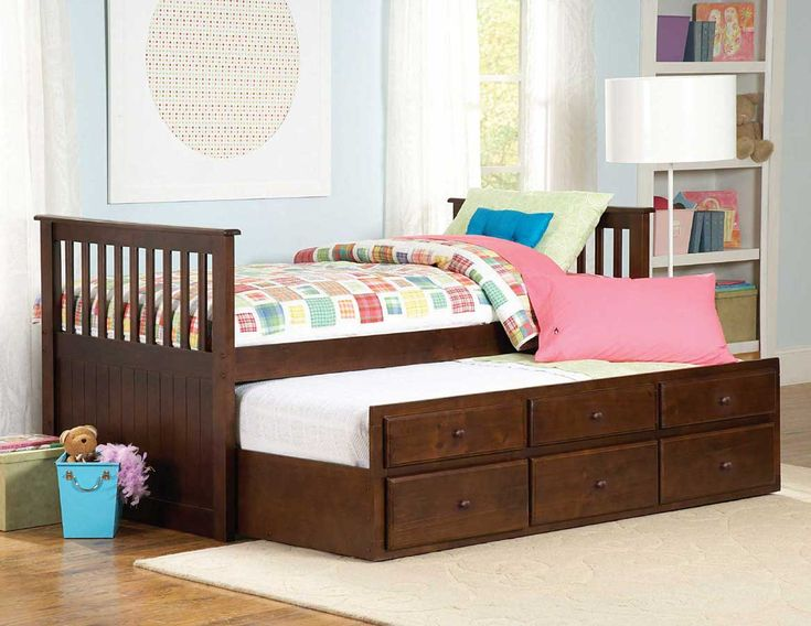 cafe kid white trundle bed