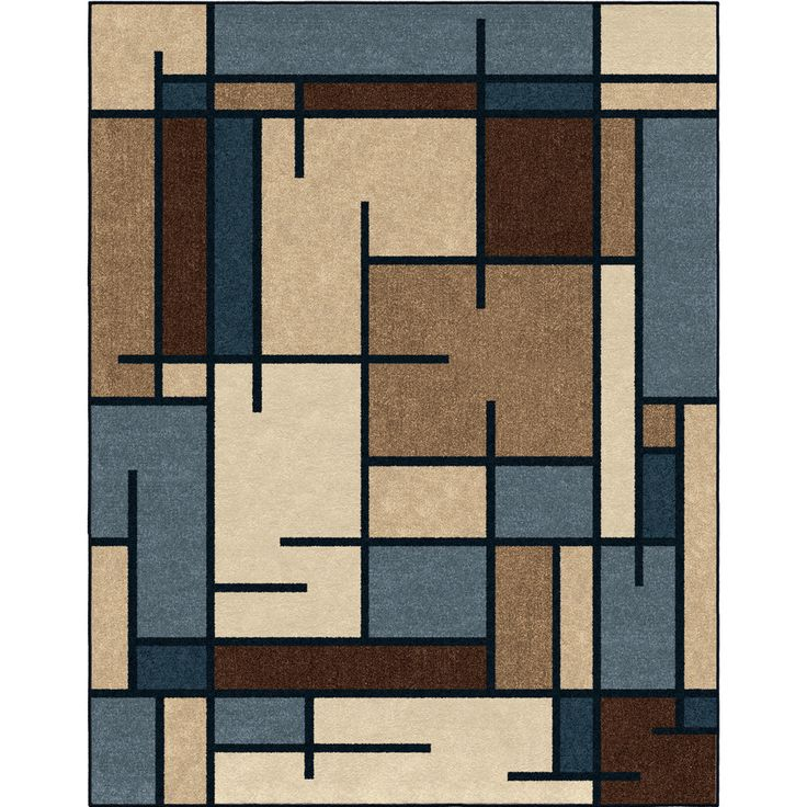 Allen Roth Addington Liberty Blue Indoor Southwestern Area Rug Common 8 X 10 Actual 7 Ft W X 10 Ft L Lowes Com Southwestern Area Rugs Area Rugs Blue Throw Rugs