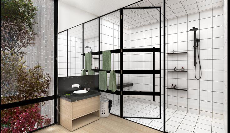 Steel Shower Screens