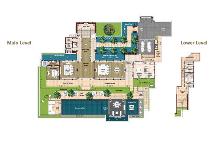 Phuket Luxury Villa Layout Plans And Descriptions Andara