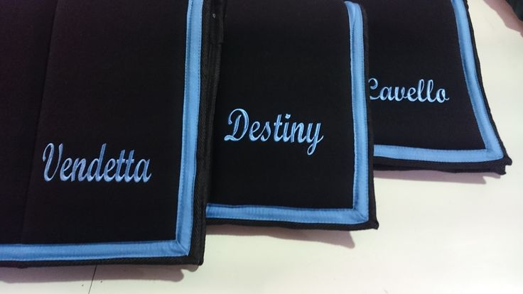 WOOL CLOTH BLACK WITH NAME