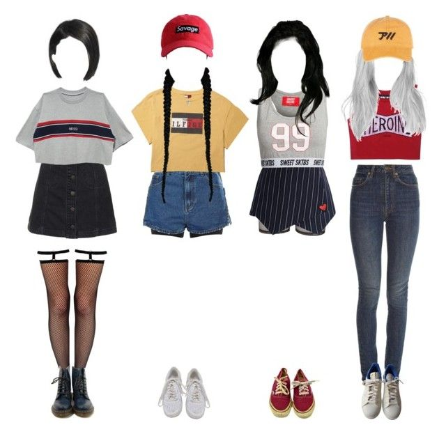 M Countdown: goodbye stage ∴ River City by outline-official on Polyvore featuring polyvore fashion style Yves Saint Laurent Topshop Chicwish Leg Avenue Bitching & Junkfood SPANX Dr. Martens adidas NIKE clothing