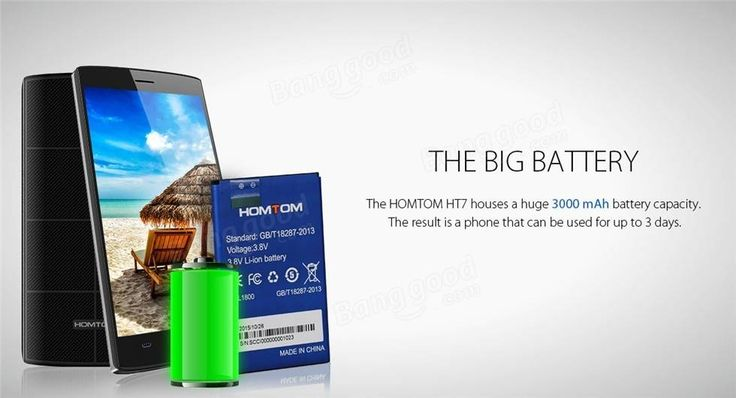 HOMTOM HT7 5.5 Inch 1GB RAM 8GB ROM MTK6580 Quad-core 3000mAh Battery Smartphone Sale - Banggood.com