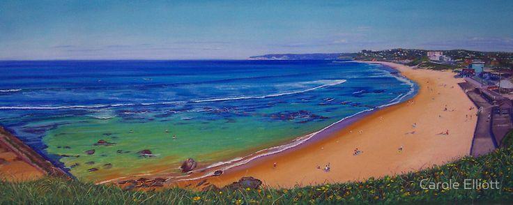 SOLD - Bar Beach, Newcastle #pastel #painting #art #ocean #water #seascape #carolelliott7 #newcastle #australianart