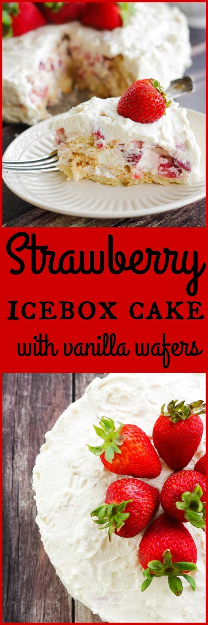 Strawberry Ice Box Cake with Vanilla Wafers | www.homeandplate.com | My Strawberry Ice Box Cake is an ideal way to kick off your summer celebrations. The key ingredient - Keebler Vanilla Wafers.#BiteSizedBitsOfJoy #ad