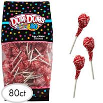 Red Dum Dums Lollipops 80pc