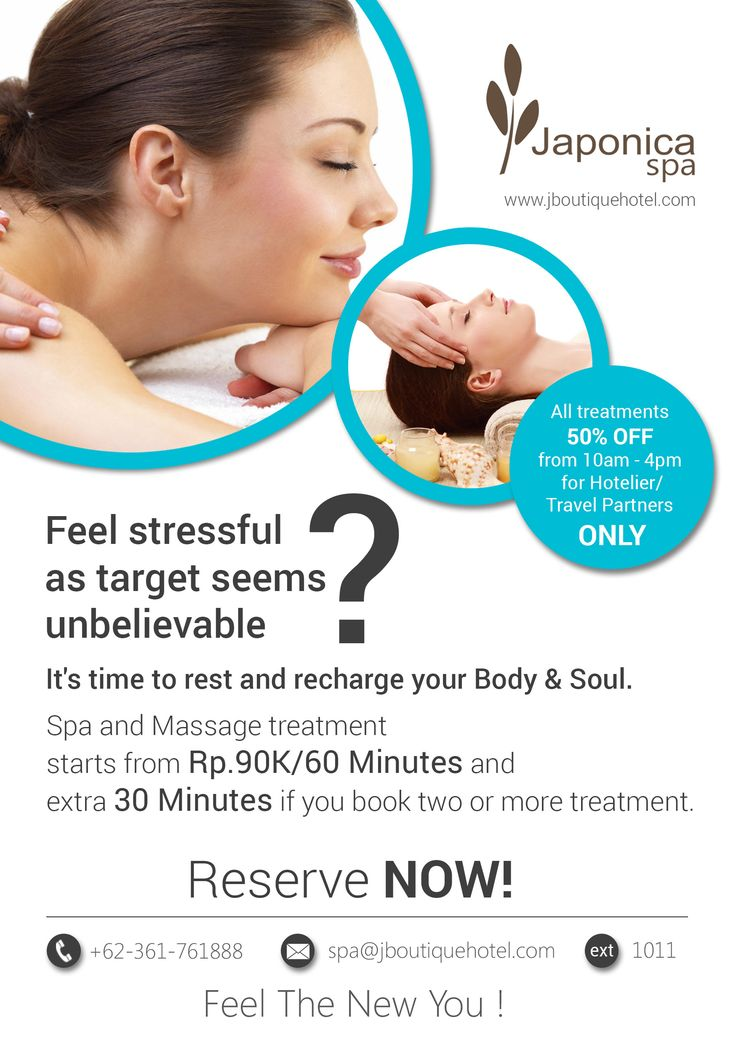 Feel the new you with our Spa and Massage treatment... #BaliSpa #Massage #Spa #Relax #Recharge #Treatment #Kuta #Bali