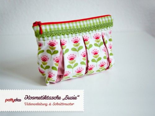 Tutorial for a pleated cosmetic bag