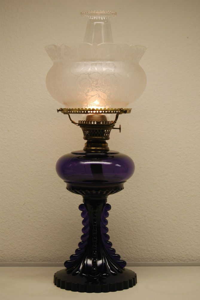 Antique Old French Kerosene Oil Gwtw Eapg Roses Parlor Banquet Victorian  Lamp
