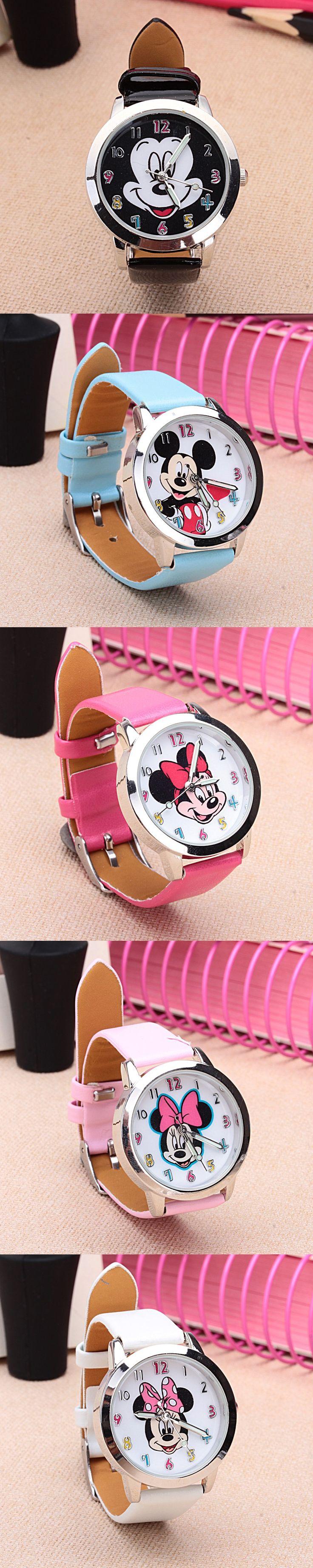 Mickey&Minnie Mouse Hello Kiity cartoon watch women watches kids quartz wristwatch child boy clock girl relogio infantil $4.6