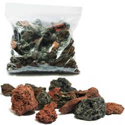 Volcanic rock for pond filtration, veggie filters: plants in pots to contain roots with volcanic rock around pots to fill gaps & greater filtration