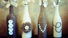 Wine Bottle Crafts for DIY Decor: Vase I have almost everything to make these already!