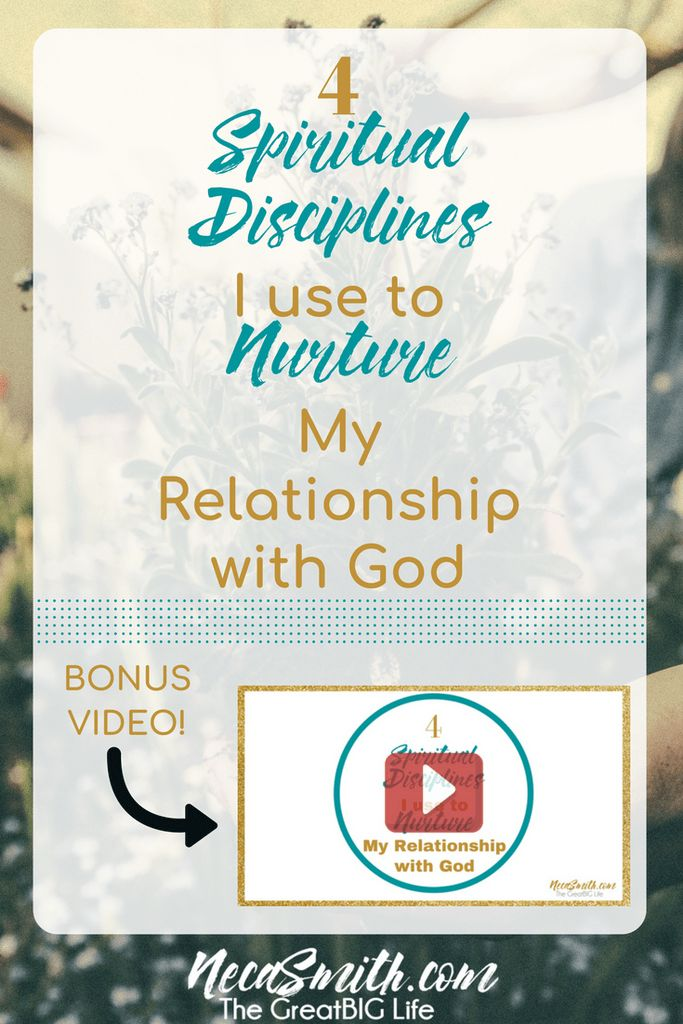 Watch the video and learn how spiritual disciplines of prayer, fasting, meditation and declaration help me nurture my relationship with God.