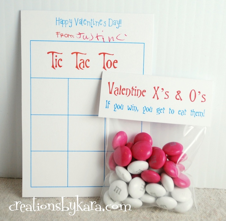 Valentine's Day Tic Tac Toe classroom Valentine idea