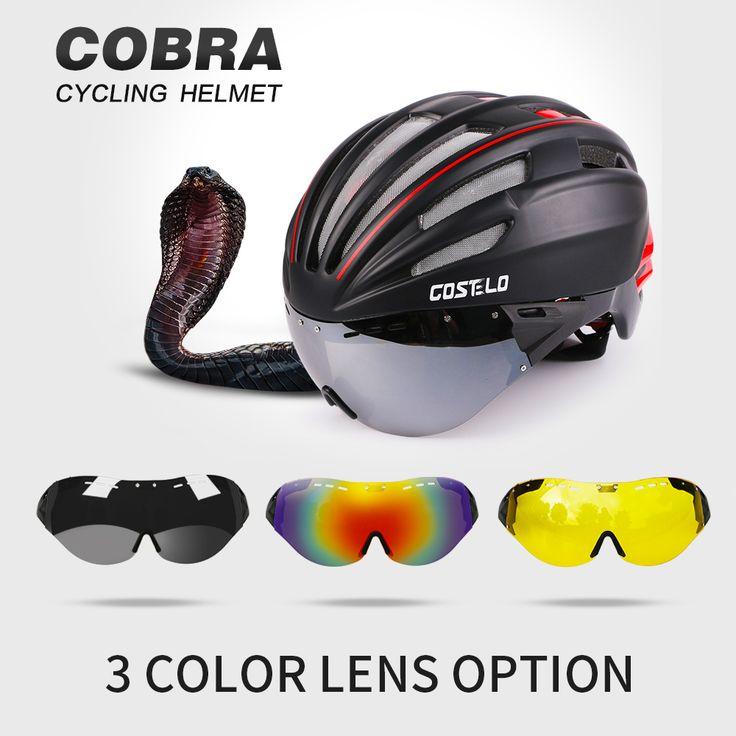 2016 Costelo Ciclismo Capacete 4 Cores MTB Road Bike Capacete de Bicicleta Capacete Velocidade Airo RS Ciclismo Goggles montanha super preço