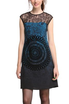 Desigual women's Europa dress. A very suggestive dress with a mandala taking centre stage.
