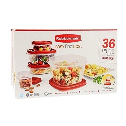 Rubbermaid Food Storage Containers 36 Piece Organization Container Lids New Set  #RubbermaidFoodStorageContainers36
