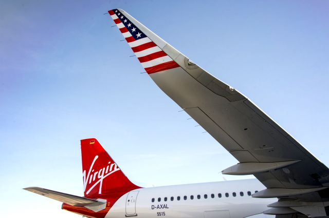 The First Virgin America A320 With Sharklets